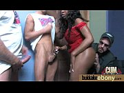 Ebony gets fucked in all holes by a group of white dudes 24