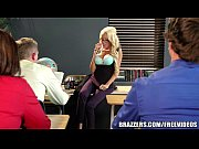 Big tit blonde teacher gets taught a less ...