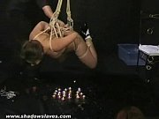 Japanese Teen Koko in Suspension bondage Over Fire