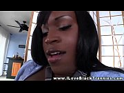 black ebony tranny jerking herself
