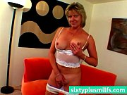 Older MILF in hot lingerie solo