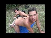 gay latin guys toy fucking outdoors