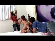 Horny tgirl Dany fucked by a girl and fucking a guy.