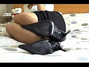 handjob while sniffing nylon feet 06.