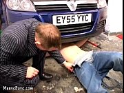 Picture Young car mechanic servicing older gay busin...