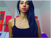 Girl in pink lipstick sexy webcam striptease - www.fuck-se.xyz/livecam