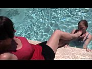 Foot Worship and Breath Play in the Pool