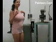 busty milf inserts machine tools in.