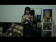 Home Alone Ladyboy Undressing Inside Front Of A Mirror