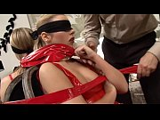 Rocco Siffredi fucking a tied and blindfolded chick