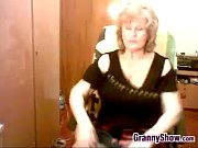 chubby and busty grandma masturbating