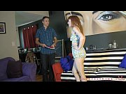 Lizzy Lamb Punishes Salesman Tristan Sweet FEMDOM WEDGIES