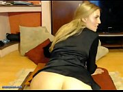 Cute Blonde Amateur Teen Toying with Dildo