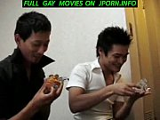 3 Japanese twinks finger fucking and sucking cock