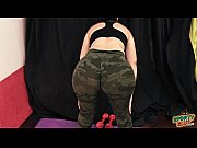 BEST ASS on the Net. Fiona, Working-Out! In Camouflage Lycra