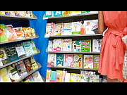 hidden cam girl in a bookstore - watch.