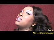 Black girl initiated in the art of gloryhole blowjob 4