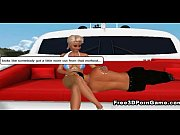 Foxy 3D cartoon hottie kicking some guys ass