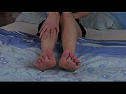 Violeta with sexy feet gaping cunt