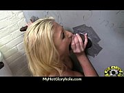 black babe suck in a gloryhole.