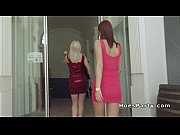Redhead teen and Euro blonde group banged