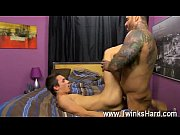 Hot twink Alexsander begins by forcing Jacobey&#039_s head down on his