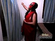 sexy hot shilpa bhabhi indian amateur in red sari stripping-copypasteads.com