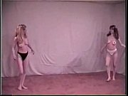 blonde vs brunette topless catfight 01