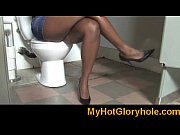 Gloryhole Initiations Black babe sucking white cock 24