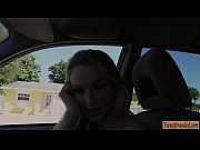 Adorable teen Staci Carr gets her pussy pounded in the car
