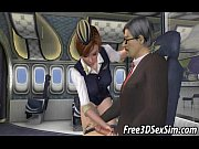 Foxy 3D cartoon stewardess getting fucked hard