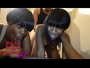 Two ebony teens...