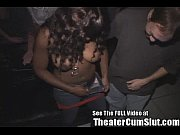 Busty Black Girl Getting Cum Covered At A Tampa Porn Theater