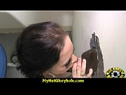 gloryhole with a nasty wild white girl interracial 8
