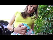 Petite teen hitchhiker fucking outdoor POV