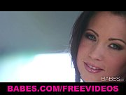 sultry brunette vixen chloe james rubs her self.