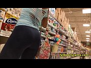 latina with an amazing ass in grocery store.