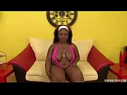 Ebony Sistah With Big Booty Sucks A Big WHITE Cock