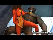 Hot 3D babe getting licked and fucked by a monster