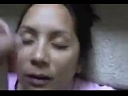 Latina taking a facial
