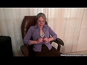 old secretary kelli strips off and fingers her.
