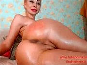 hot blonde milf masturbating for cam.