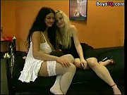 Lesbians fun with double dildo - sex video