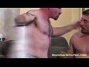 Horny bears in bareback video
