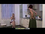 Mom is toying her son's GF pussy