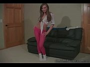 slutty brunette teen is eager