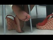 beautiful ebony feet at mall