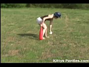 innocent 18yo teen playing baseball outdoors