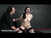 Humiliated slave Isabel Deans pegged and punished to tears in hard amateur bdsm