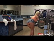 Busty Leyla Falcon sucks and fucks while waiting for laundry